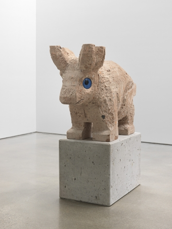 Olaf Breuning sculpture 'Sad and worried animals / Bull'