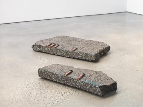 Mars, 2018. Two asphalt blocks and 6 Mars bars,