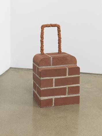 Judith Hopf - Rollkoffer (Brick Trolley), 2018.