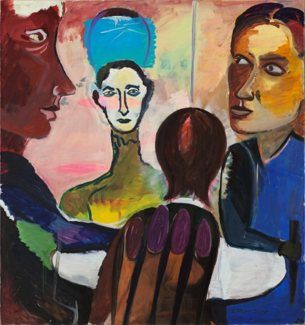 Conspiracy of the Senses, 1983-85. Oil on canvas, 67 x 62.5 in (170.5 x 160 cm). MP 16