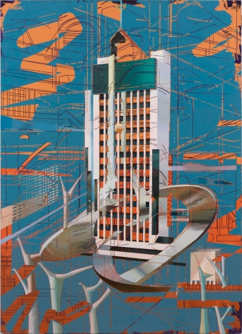 Cui Jie painting 'Kunming Long-distance Telecom Hub Building'
