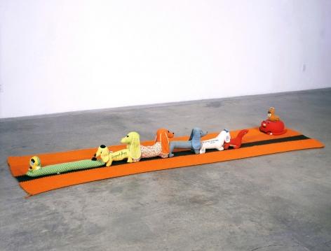 Mike Kelley - Arena #10 (Dogs) floor installation