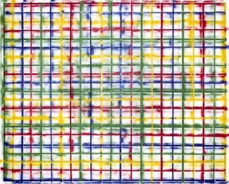 Grid Spray, 2009. Mounted c-print on 6mm sintra, framed, 61-5/8 x 76-5/8 inches (153.4 x 191.5 cm). Edition of 3. MP P-67