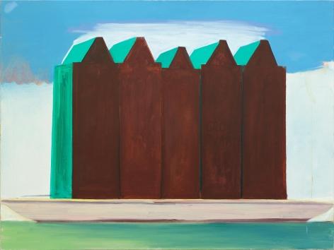 Kades-Kaden,1987. Oil on canvas, 42 x 55 in (105.1 x 140.3 cm). MP 12