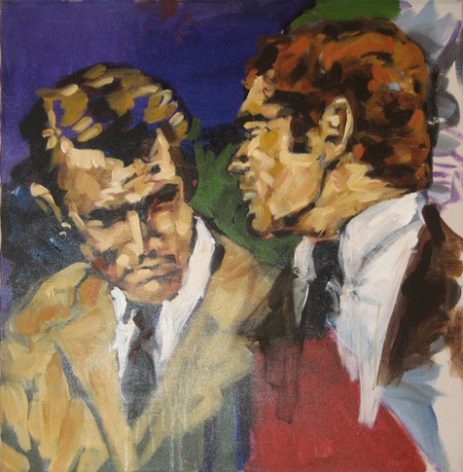 Richard and Peter, 1984. Acrylic on canvas, 24 x 24 inches (61 x 61 cm). MP 5