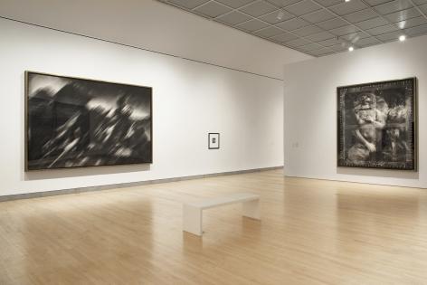 Installation view of Proof: Francisco Goya, Sergei Eisenstein, Robert Longo at Brooklyn Museum