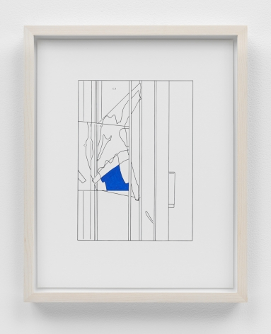Louise Lawler work 'Water to Skin (traced and painted), Third'