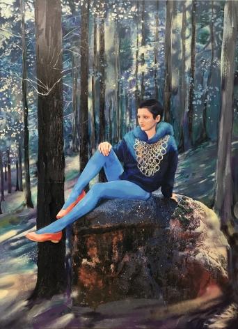 Paulina Olowska, Blue Forest, 2019