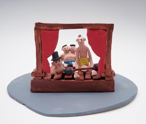 Freak Show, 2017, 15 ceramic sculptures, 6.3 x 11.81 x 9.06 inches (16 x 30 x 23 cm)
