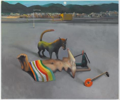 Sleeping Gypsy, 2019. Oil on linen, 19 11/16 x 23 5/8 inches (50 x 60 cm).