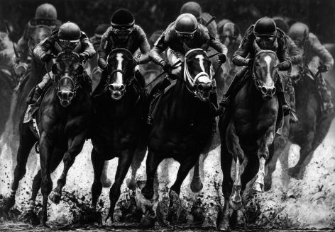 Robert Longo, Untitled (Four Horsemen, Kentucky Derby 2019), 2019.