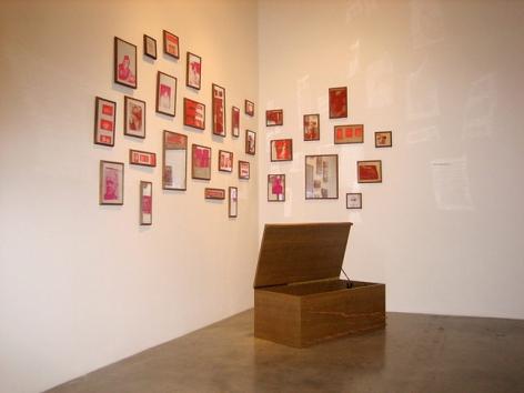 Martin Kippenberger, 35 Mirror Babies, 1989. Silkscreen on mirror; wooden box