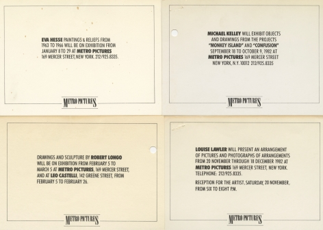 Invitations from 1982 and 1983