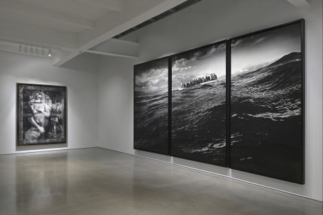 Installation view of Robert Longo's The Destroyer Cycle exhibition at Metro Pictures