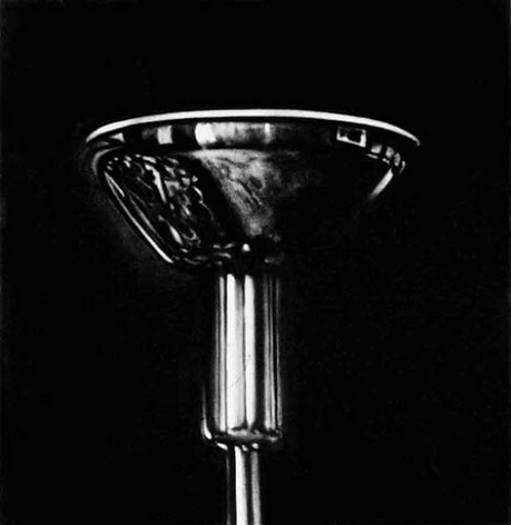 Untitled (head of standing lamp, reflecting consulting room 1938), 2000. Charcoal on mounted paper, 32 x 32 inches (81.2 x 81.2 cm). MP D-408