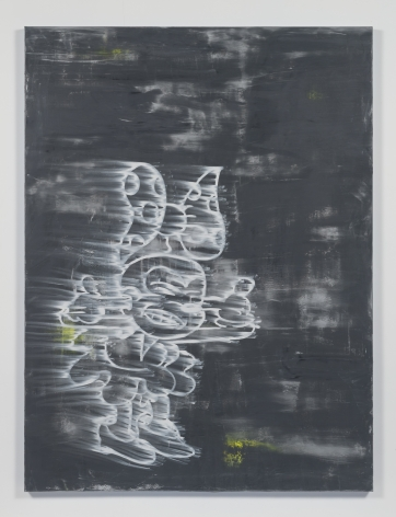 Gary Simmons - Bracing For The Blast painting