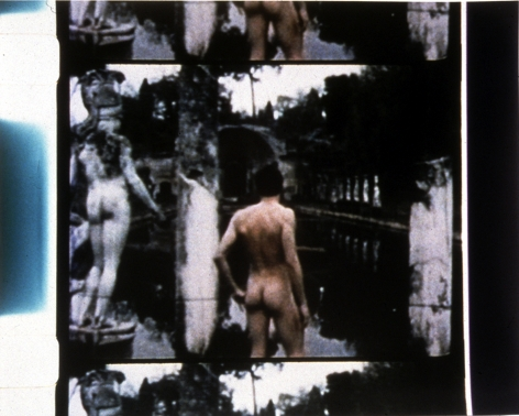 T.J. Wilcox photograph of nude figure with statue