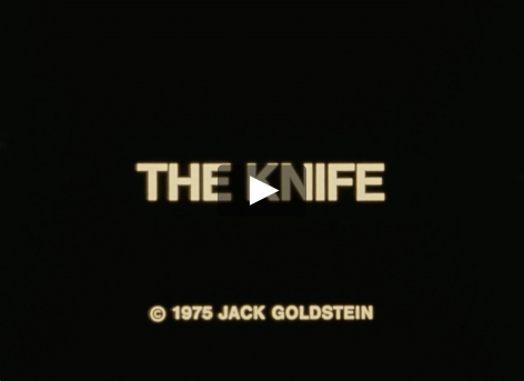 Jack Goldstein video of a knife