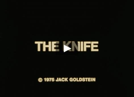 Jack Goldstein video of a knife