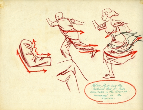 Corrections of the Mark Shaw drawing of a domestic scene