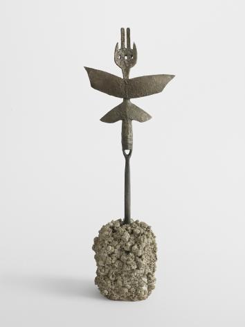 ATL, 2019. Bronze, cement, 10 3/4 x 7 1/2 x 1 inches (27.3 x 19.1 x 2.5 cm).