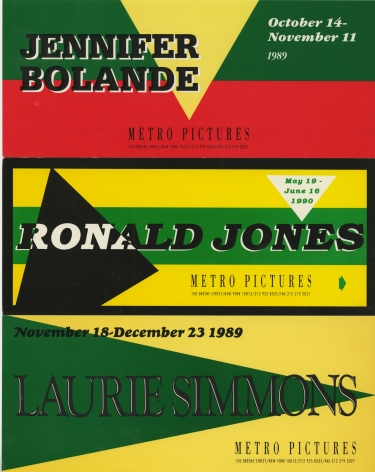 Invitations from 1989 and 1990