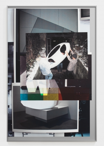 Afterform, 2013. Inkjet prints collaged and mounted on alubond, Image 59.06 x 39.37 inches (150 x 100 cm), Frame 59 1/4 x 39 1/2 inches (150.5 x 100.3 cm).