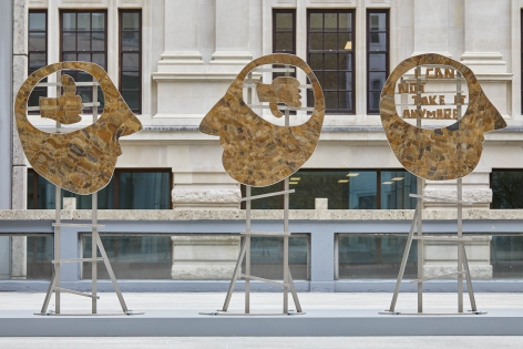 Heads, installation view, 2018. Smithson Plaza, London.