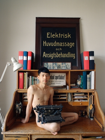 Pixy Liao Moro with a Typewriter, 2017