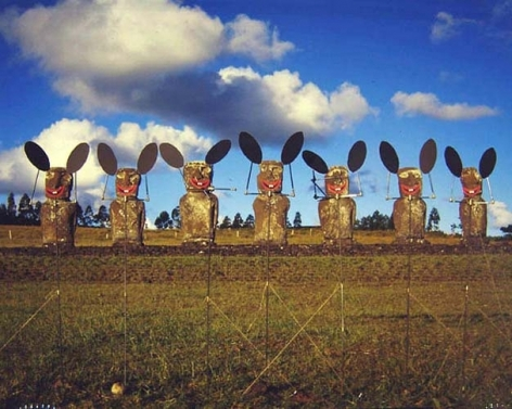 Easter Bunnies, 2004. Laminated c-print mounted on aluminum, 48.03 x 61.02 inches (122 x 155 cm)