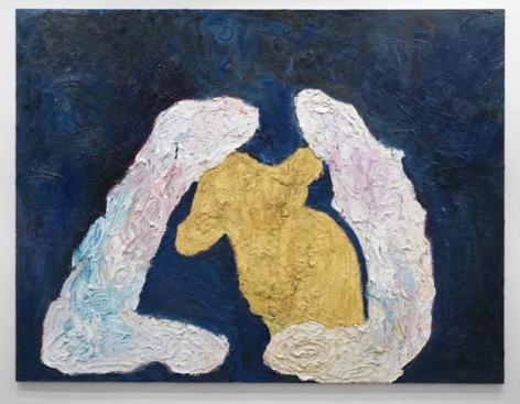 Grablegung von Winnie Puh (Entombment of Winnie the Pooh), 2010. Oil on canvas, 102 1/2 X 134 inches (260.4 x 340.4 cm). MP 45