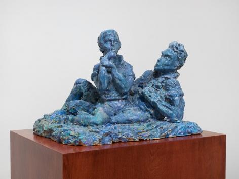 Demure, 2015. Glazed ceramic, 21.06 x 15.55 x 15.94 inches (53.5 x 39.5 x 40.5 cm).