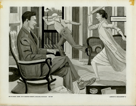 Mark Shaw drawing of a domestic scene