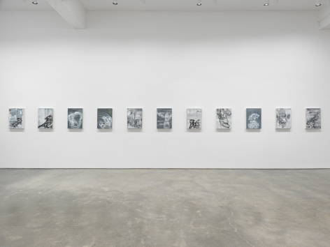 "Gary Simmons exhibition ""Screaming into the Ether"" installation view."