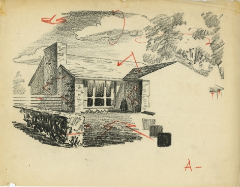 Corrected versions of the Mark Shaw drawing of a house