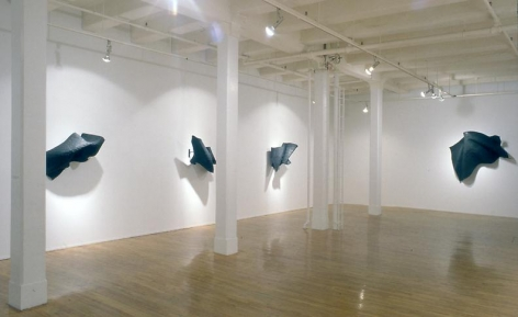 """""""Black Flags,"""" installation view, 1990. Metro Pictures, New York."""