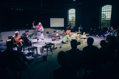 """Nest"", 2014. Catherine Sullivan/Katarzyna Wi?ska and Teatr Opera Buffa. Performance view, ""Nothing Twice"", CRICOTEKA, Krakow."