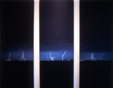 Untitled, 1984. Acrylic on canvas, 3 panels, each 96 x 36 inches. MP 131, 132, 133