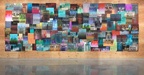 Untitled, 2014. Ink jet posters on CDX plywood, Installation dimensions variable.