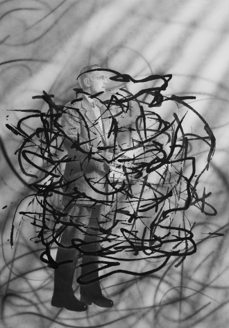 Untitled Scribble (Man with Bow-Tie), 2008.
