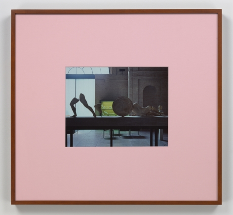 Louise Lawler - Pink Mat photograph framed in pink mat