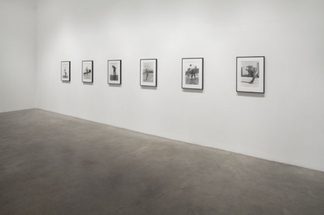 Robert Longo, Untitled (Men in the Cities), 1976  - 1982 / 2009. Set of 14 black and white photos, 20 x 16 inches (paper) (50.8 x 40.6 cm). MP P-21