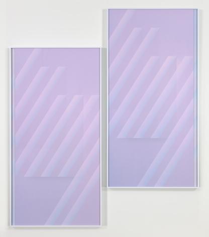 Eternal Triangle, Dusk, 2016. 2 digital C-prints, Each 117 7/8 x 100 3/4 inches (299.4 x 255.9 cm).