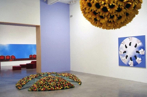 """Opposite Day,"" installation view, 1999. Metro Pictures, New York."