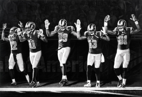 Untitled (St. Louis Rams, Hands Up), 2016