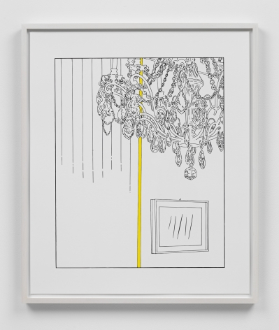 Louise Lawler work 'Chandelier (traced and painted), Fourth'