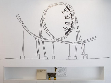 Olaf Breuning Installation view, 2008