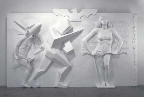 Fourth World 4419, 2007. Wood, polystyrene, polyurethane, epoxy resin, varnish, 196-7/8 x 116 x 31-1/2 inches (500 x 294.6 x 80 cm).
