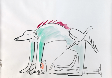 Camille Henrot - Unfriendly with a Friend drawing
