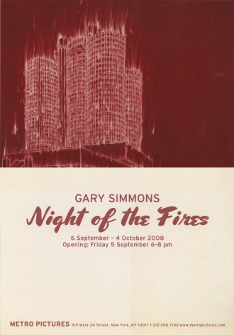 Gary Simmons invitation